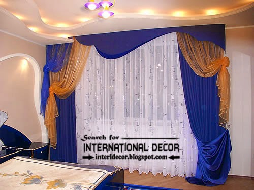 blue curtains, blue bedroom curtains, double curtain rod, blue curtain for bedroom