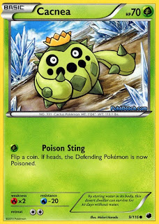 Cacnea Plasma Freeze Pokemon Card