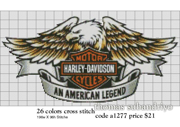"""Harley Davidson logo """"an american legend"""" with the eagle"""