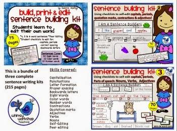 FREE Sentence Building Kits