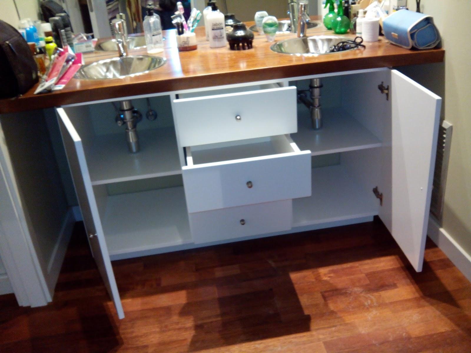 Mueble de cuarto de ba o para dos lavabos muebles cansado zaragoza carpintero ebanista - Muebles a medida en zaragoza ...