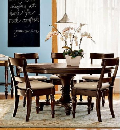 classic minimalist round dining table design