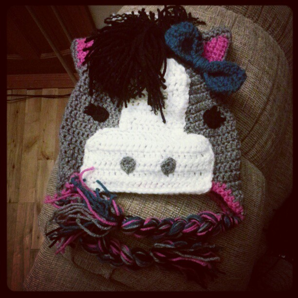 All Things Creative N Crafty Horse Hat Crochet Project