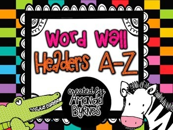 http://www.teacherspayteachers.com/Product/Word-Wall-Headers-1316640