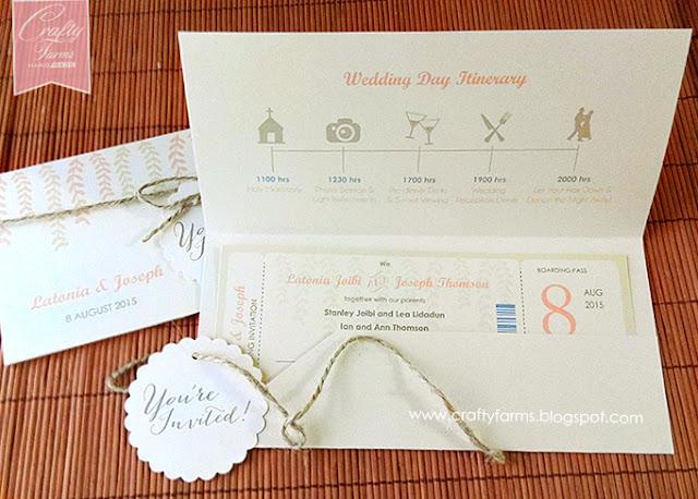 Rustic Chic Garden Wedding Card Malaysia