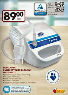 Inhalator Pneumatyczno-Tłokowy Liny Family z Biedronki ulotka