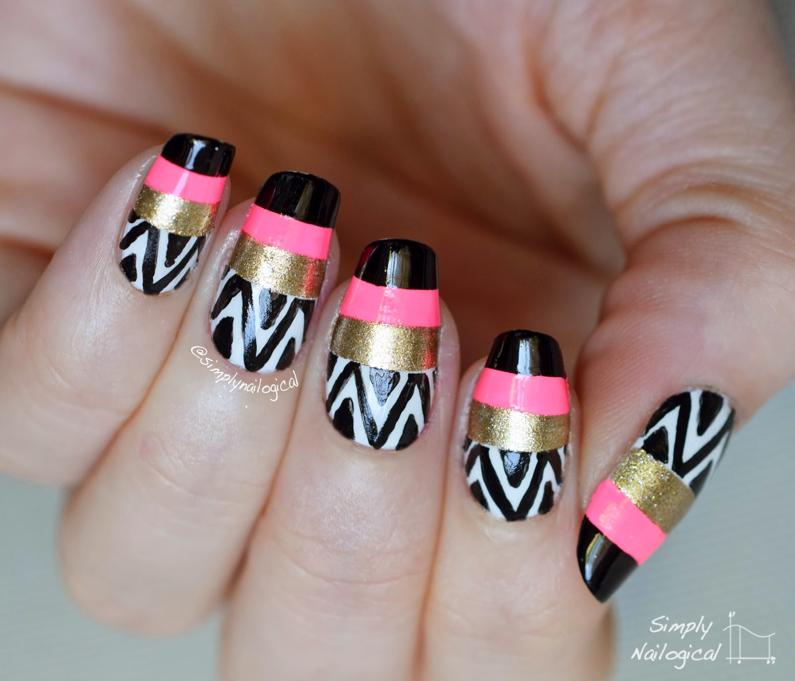 Simply Nailogical Nail Art: : Mani Swap: A Night In