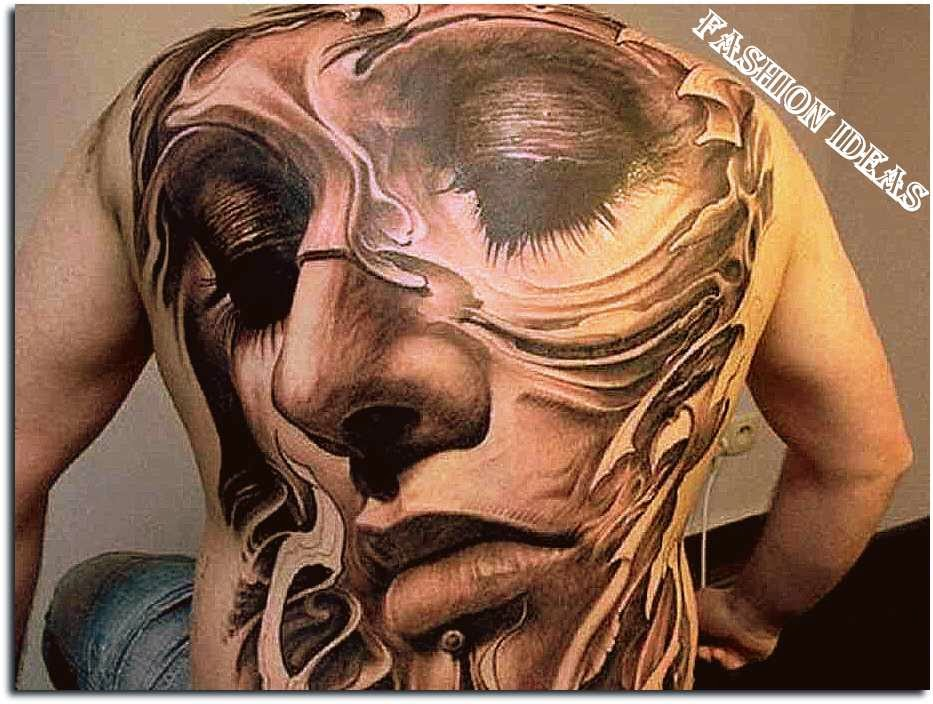 Abstract Tattoo Designs And Simple Face Art On Body Lifestyle