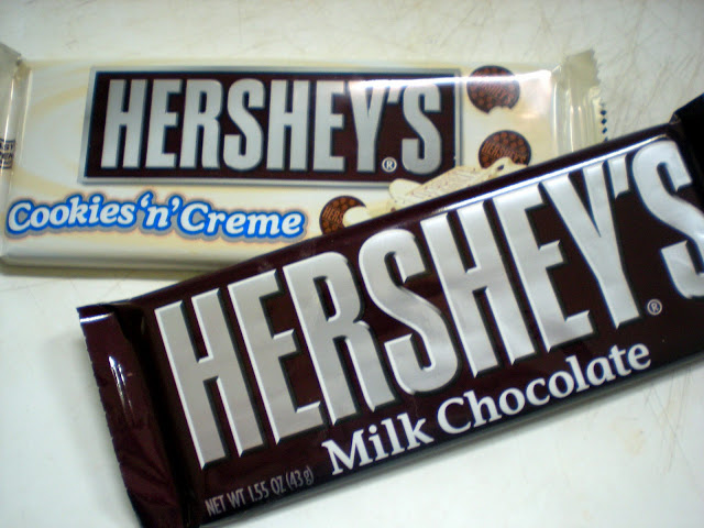 Hershey milk chocolate cookies and cream
