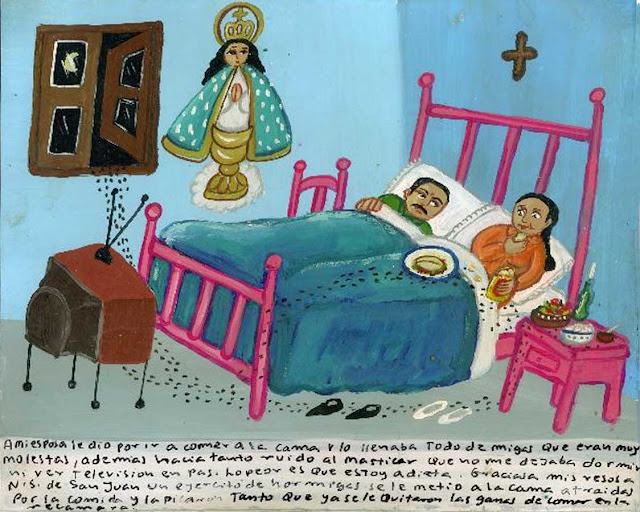 hormigas en la cama, exvoto mexicano