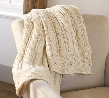knit throw blanket