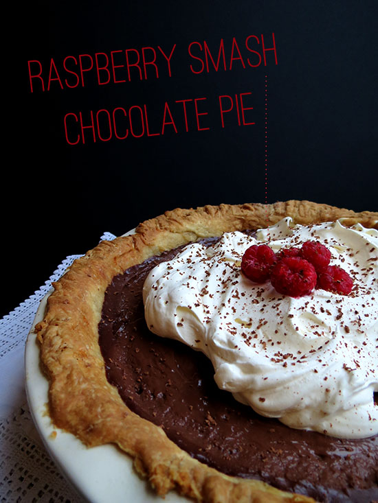 Raspberry Smash Chocolate Pie