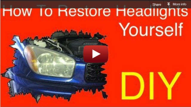 Learn auto body and paint yourself how to restore headlights push play button to watch how to restore headlights diy solutioingenieria Image collections