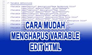 Cara Mudah Menghapus Variable Definition Blog