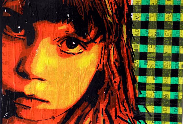 tape-art portrait  artist Nikolay Vasilyev street скотч арт художник николай васильев tapeart