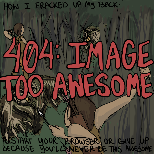 404 Image Too Awesome Quills and Frills Birthday Comic Panel 1
