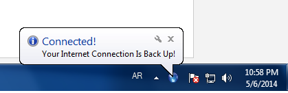 أداة مجانية لمراقبة حالة الأتصال بالأنترنت والتنبيه عند إنخفاض السرعة Internet Connection Notification 1.0.1