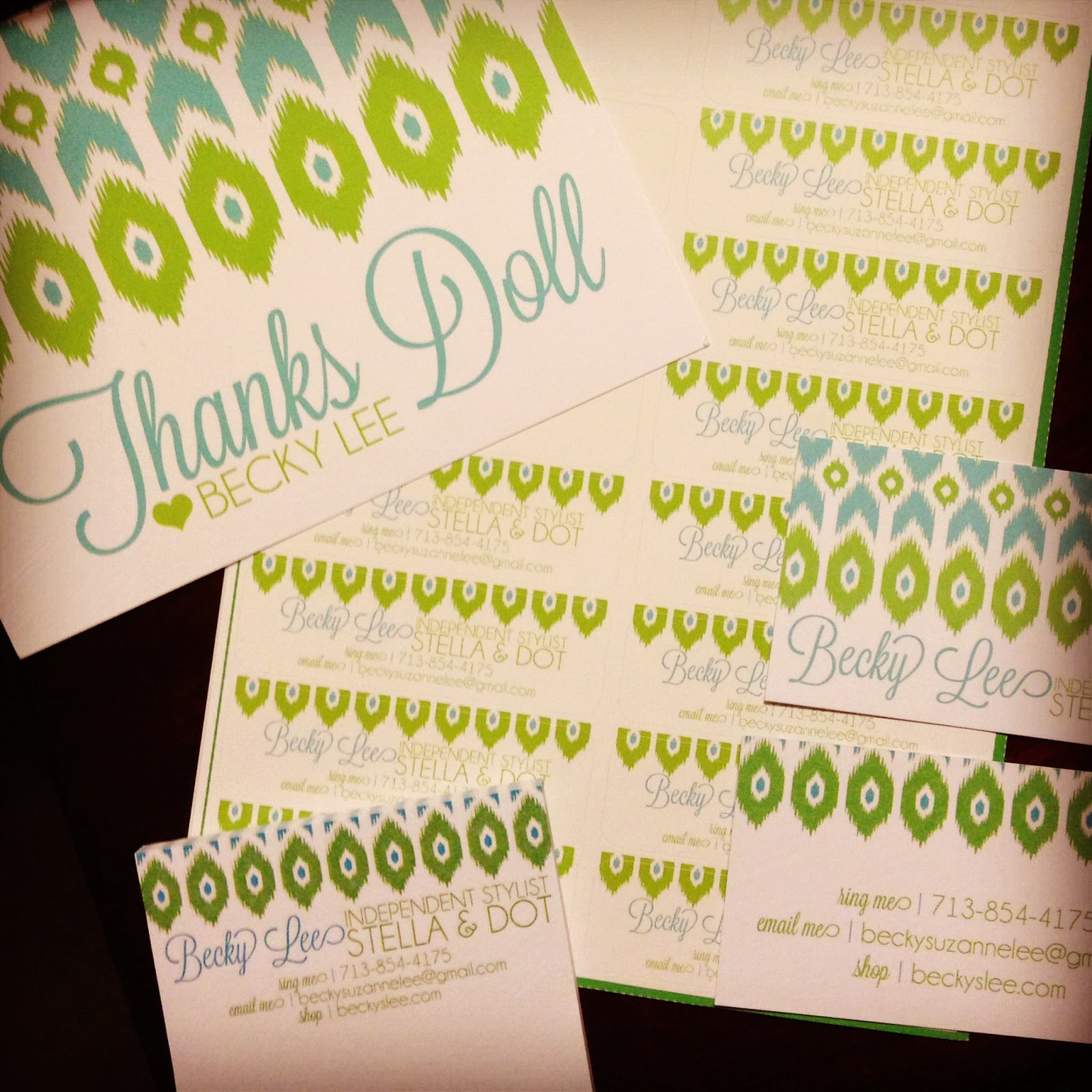 Designs by nicolina stella dot fun business cards thank you notes labels oh my colourmoves
