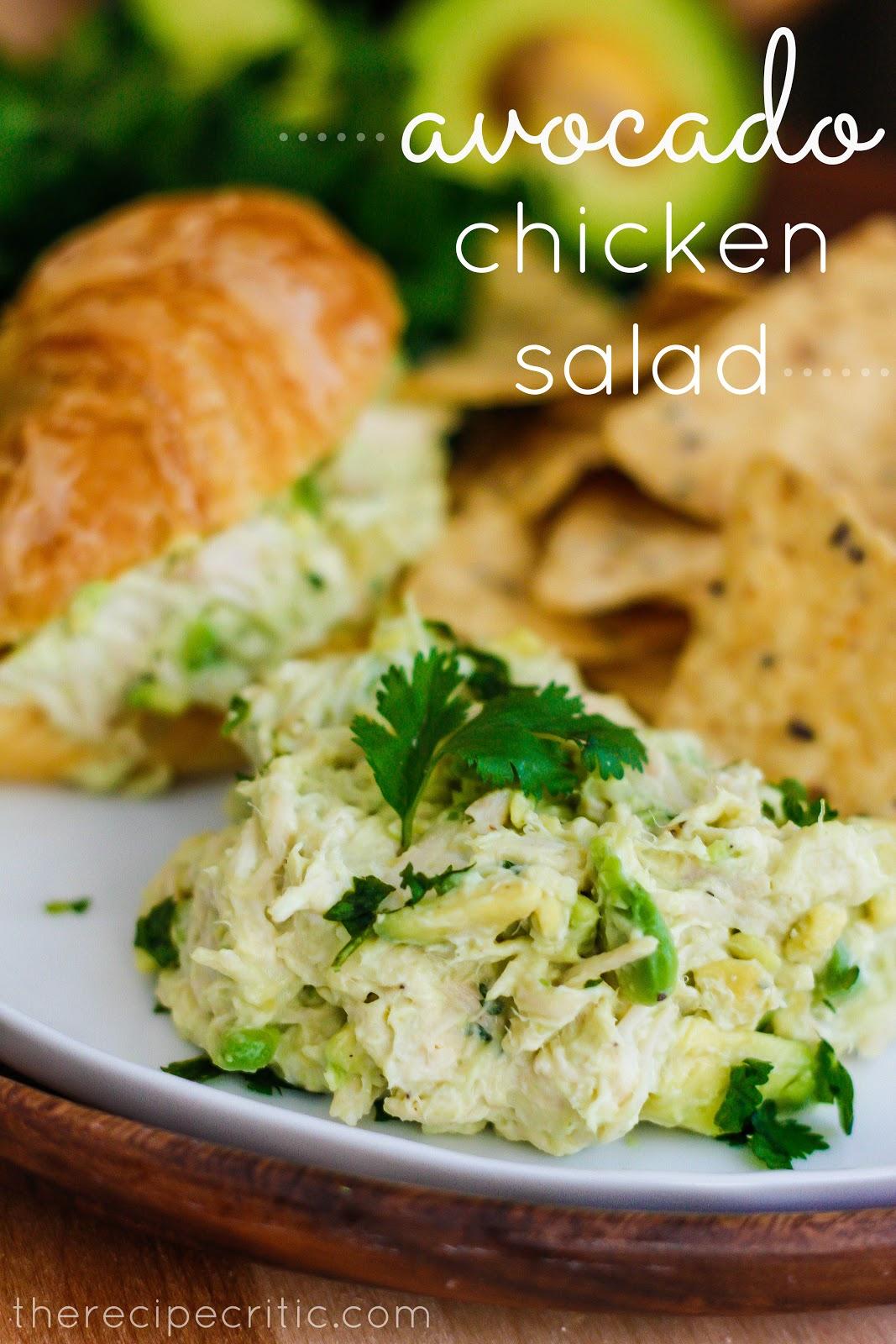 Avocado Chicken Salad Recipe — Dishmaps