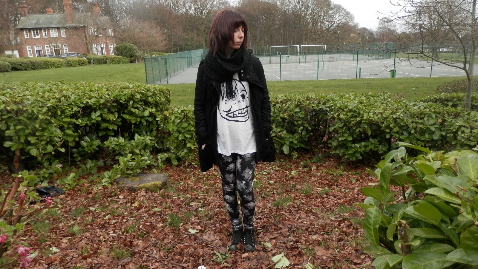 Cheap Monday Tee, New Look Leggings, Asos zip coat