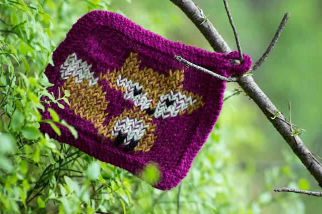 khadin lankalabyrintti neulottu kettu pannunalunen knitted potholder