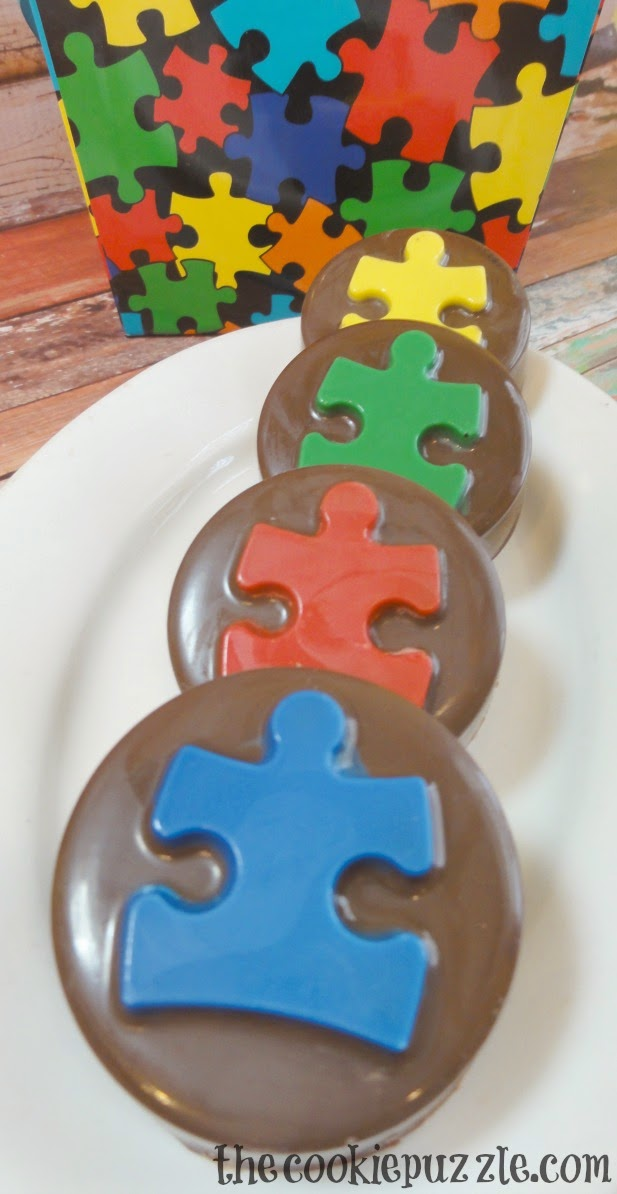 Autism Awareness Chocolate Covered Oreos