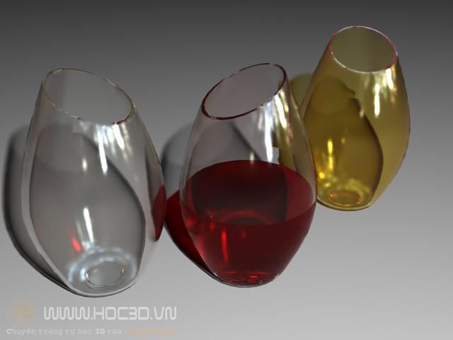 tạo cốc thủy tinh trong 3dmax | tạo cốc thủy tinh trong 3ds max | cốc thủy tinh 3ds max |  vật liệu thủy tinh trong 3ds max