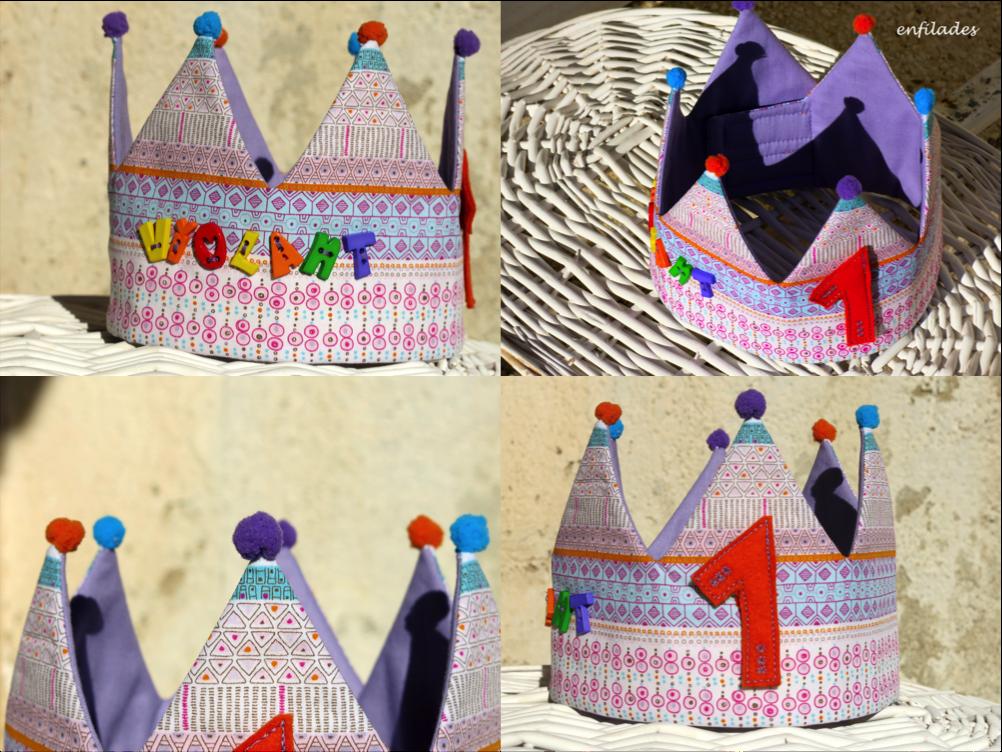 corona d'aniversari Violant d'Enfilades, feta a mà