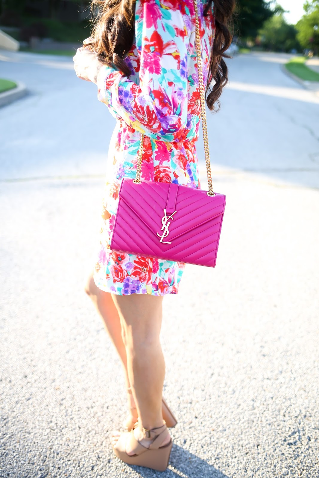 ysl handbag pink