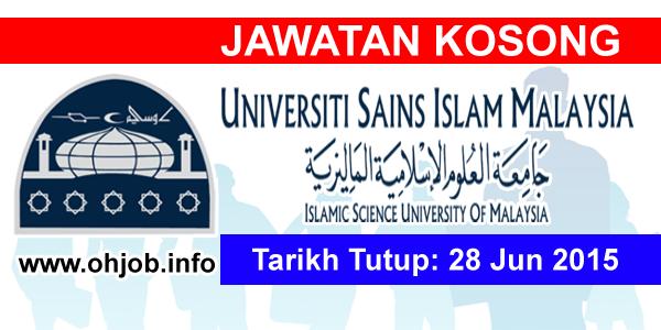 Jawatan Kerja Kosong Universiti Sains Islam Malaysia (USIM) logo www.ohjob.info jun 2015