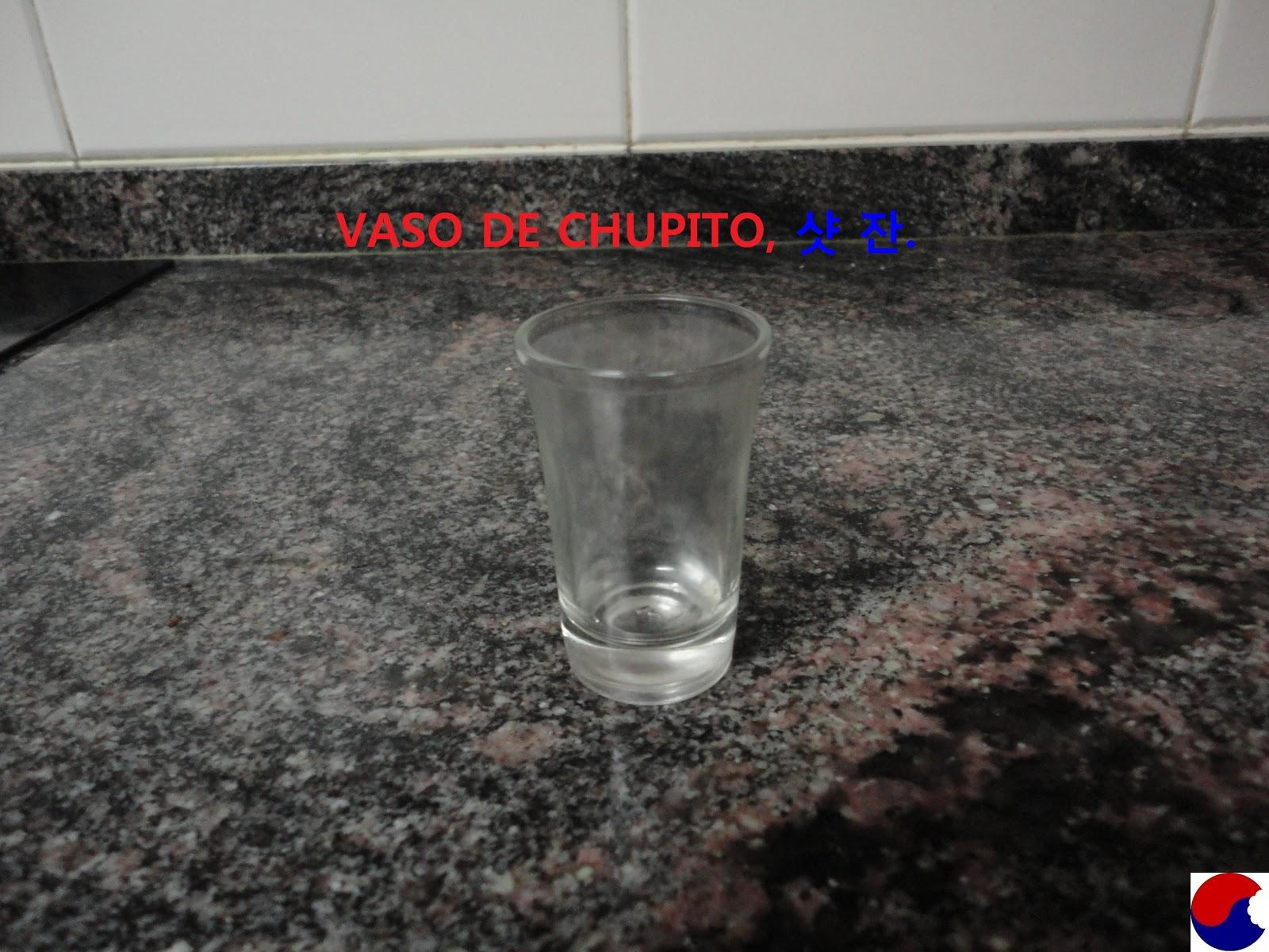 Comi ndome corea vocabulario vajilla for Vaso chupito