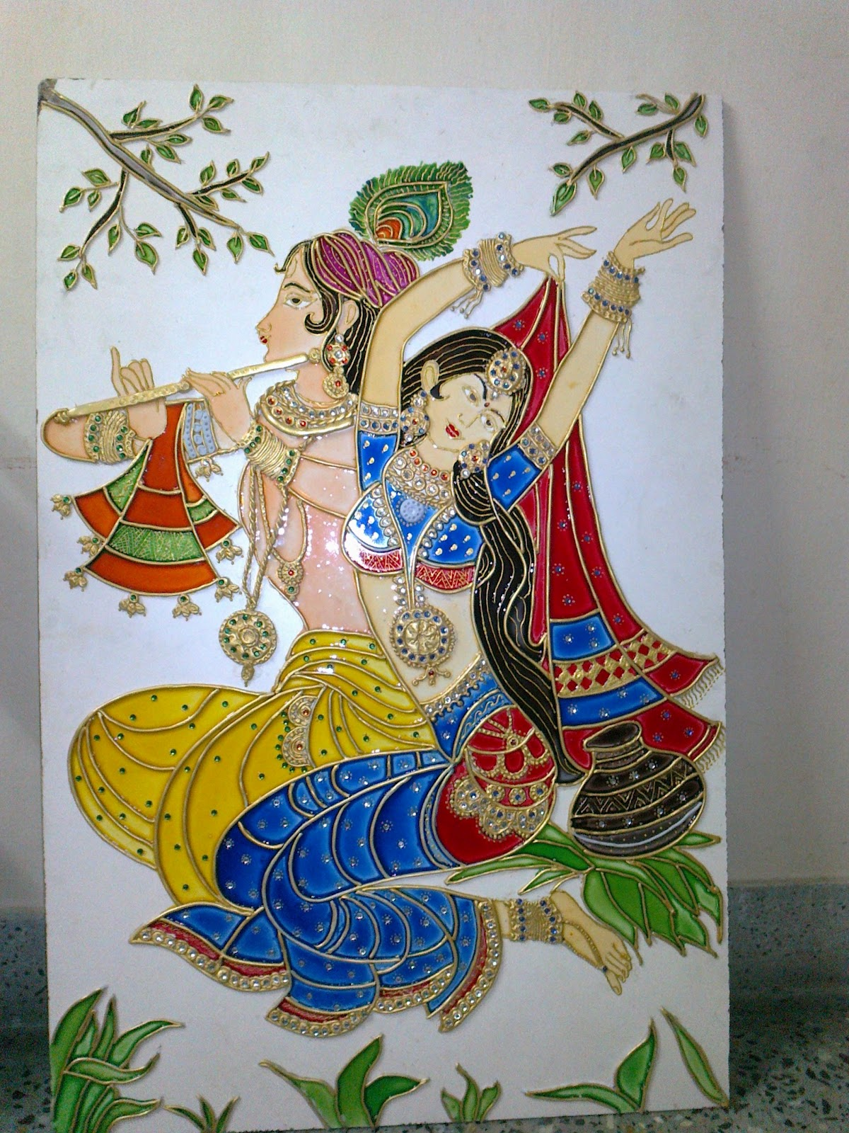 Orchids Arts And Craft Gallery In Palakkad Meenakari Painting