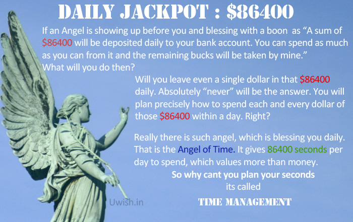 Time management story - daily jackpot $86400