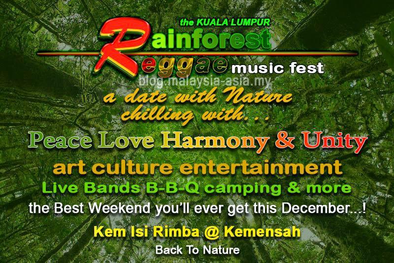 Rainforest Reggae Music Festival Kuala Lumpur