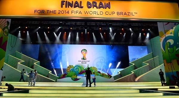 نتائج قرعه كاس العالم 2014