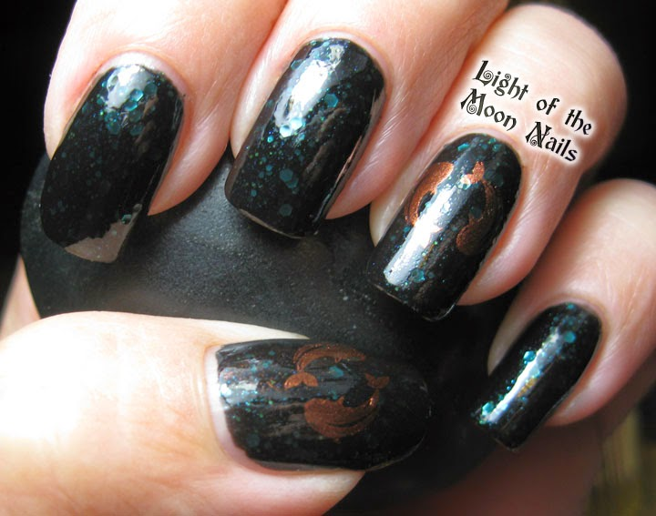 Light of the Moon Nails: Finger Foods Oriental Nail Art