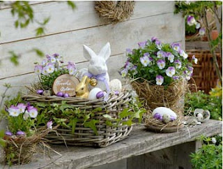cestaria, balaio, plantinhas, coelho, decoração