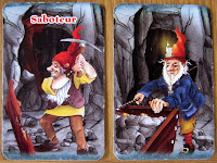 Saboteur - A Saboteur and a Miner card