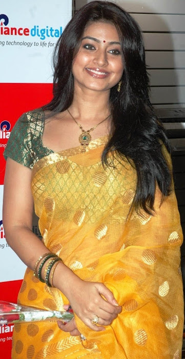 sneha in yellow saree from india photo gallery