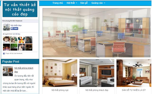 Chia sẻ Template Blogspot Nội thất đẹp cho site bán hàng, trưng bày sản phẩm