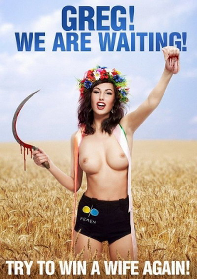 Upon learning of this blatant fact Ukrainian women's organization FEMEN has ...