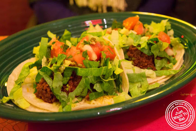 Image of Vegetarian chorizo taco at Hotel Tortuga in NYC, New York