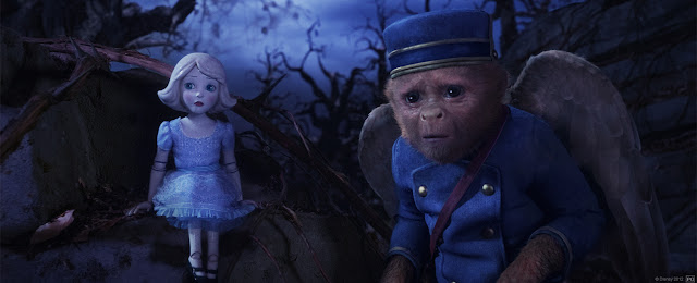 Joey King as China Girl and Zach Braff as Finley in Oz the Great and Powerful (2013)