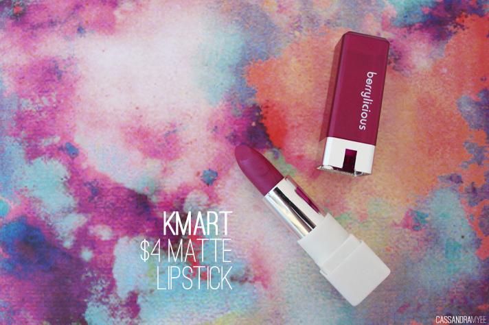 KMART // $4 Matte Lipstick in Berrylicious - cassandramyee