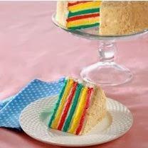 Cara Membuat Resep FLAG CAKE (KUE BENDERA)