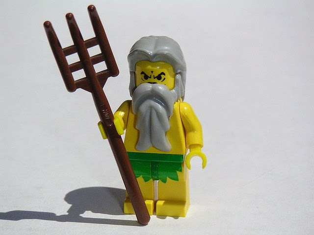 Lego Poseidon by  Andrew Becraft