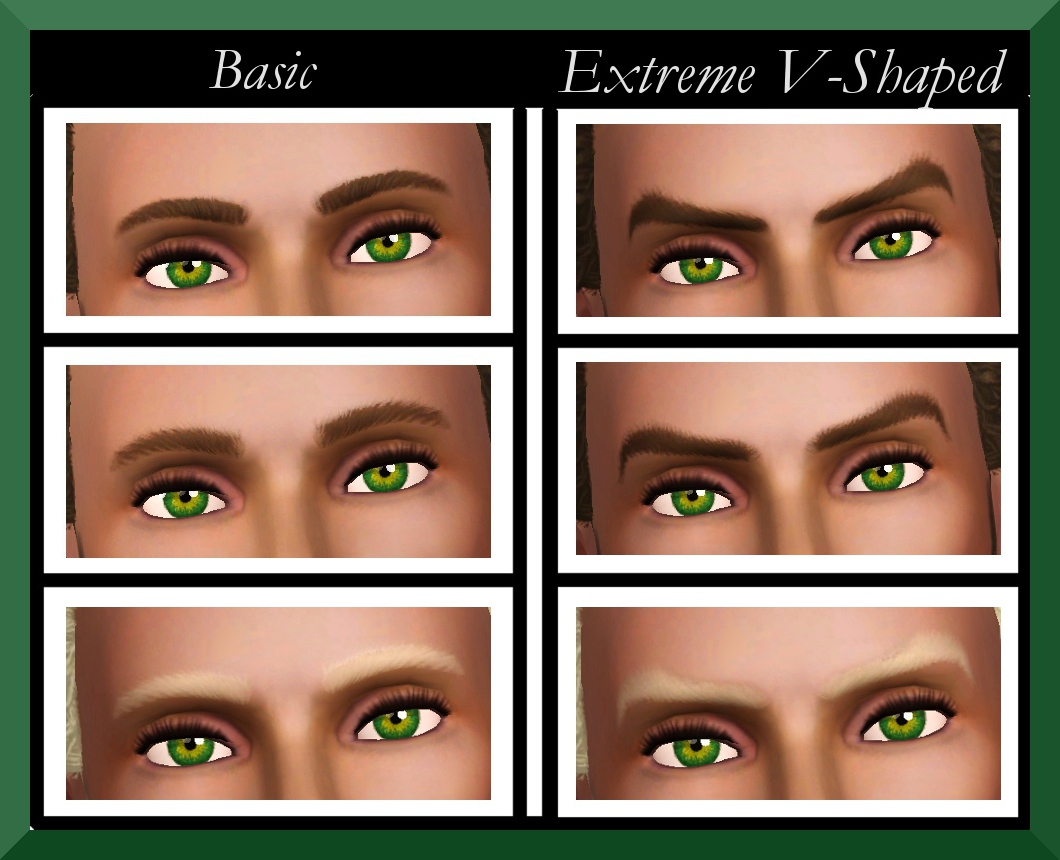 EA Eyebrows Male Teen-Elder Redone **Non-Default Version** by Simmiller