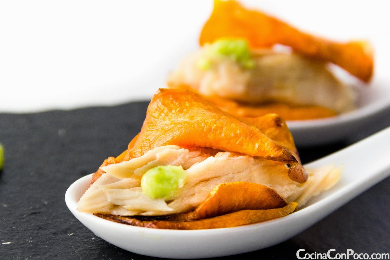 Pincho de ventresca de bonito con wasabi