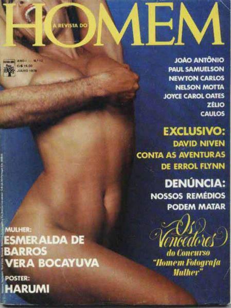 Confira as fotos da atriz, Esperalda Barros, capa da REvista Homem de julho de 1976!