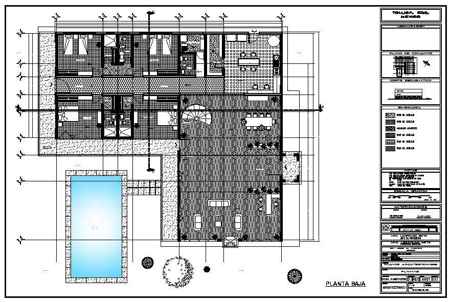 Carpeta trabajos realizados dise o casa habitaci n for Diseno de casa habitacion